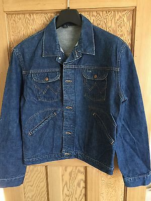 Vintage Wrangler / Blue Bell 1960's Era Selvedge Denim Jacket Size L