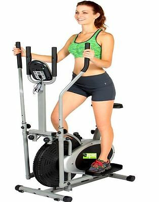 2 IN 1 Elliptical Cross Trainer Machine Bike - Workout Fitness/Gym/Cardio