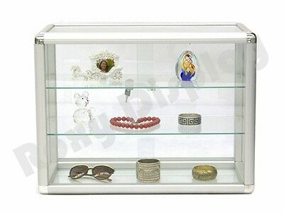 Standard aluminum framing Glass Countertop Display Case Store Fixture #KDTOP-SC