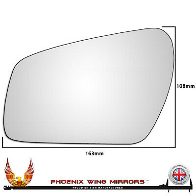 Ford Fiesta Mk6 Hatch 2002-2005 Non-Heated Convex Mirror Glass Passenger Side