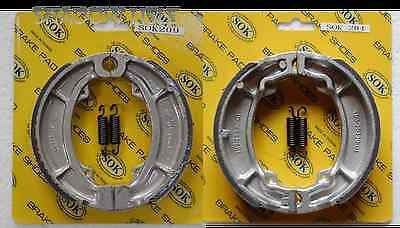 FRONT REAR BRAKE SHOES+SPRINGS fits YAMAHA YZ 175 250, 1976 YZ175, 1980 YZ250