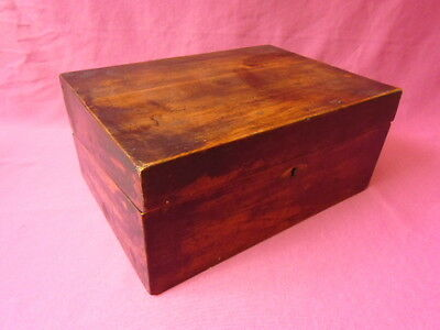 Antique Victorian Writing Slope Box - Love It As It Is, Or Restoration