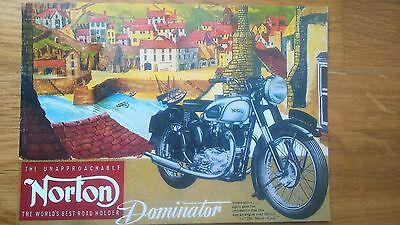 1962 Norton Dominator No 28 Vintage Ad Gallery Postcard MN23PC Unused