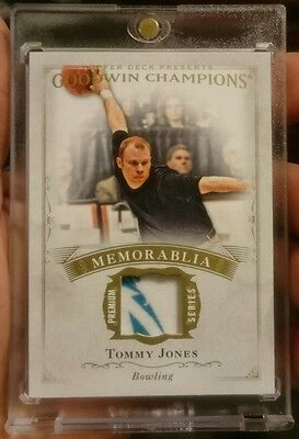 2016 Upper Deck Goodwin Champions Tommy Jones Game Used Bowling Memorabilia.