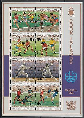 XG-AD941 COOK ISLANDS IND - Olympic Games, 1976 Canada Montreal '76 MNH Sheet