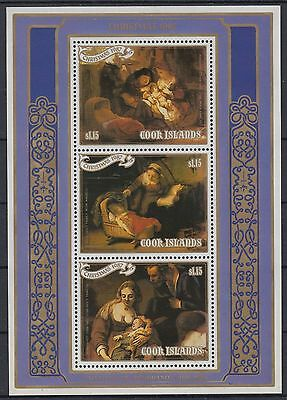 XG-AD984 COOK ISLANDS IND - Paintings, 1987 Christmas, Rembrandt MNH Sheet