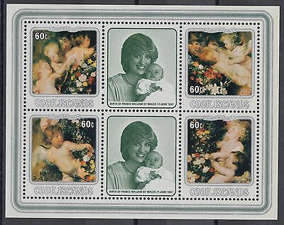 XG-AD958 COOK ISLANDS IND - Paintings, 1982 Christmas, Rubens, Diana MNH Sheet