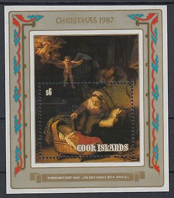 XG-AD985 COOK ISLANDS IND - Paintings, 1987 Christmas, Rembrandt, $6 MNH Sheet