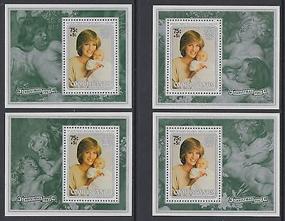 XG-AE014 COOK ISLANDS IND - Christmas, 1982 Prince William, 4 Sheets MNH