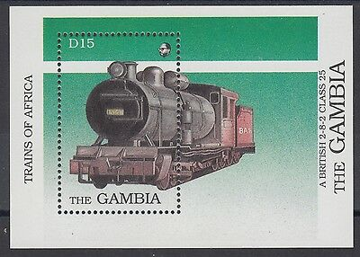 XG-AE093 GAMBIA IND - Trains, 1989 Of Africa, Locomotives MNH Sheet
