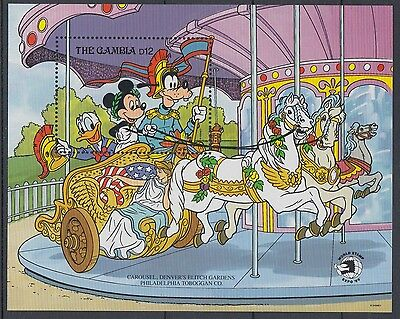 XG-AE101 GAMBIA IND - Disney, 1989 Washington World Stamp Expo MNH Sheet