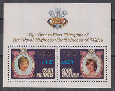 XG-AD955 COOK ISLANDS IND - Lady Diana, 1982 21St Birthday MNH Sheet