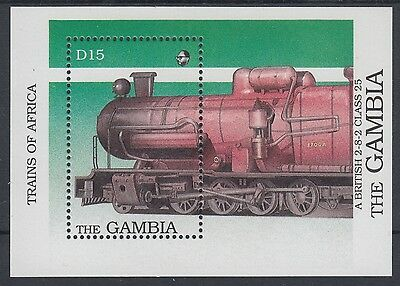 XG-AE094 GAMBIA IND - Trains, 1989 Of Africa, Locomotives MNH Sheet