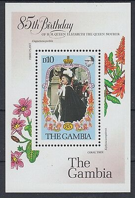 XG-AE042 GAMBIA IND - Royalty, 1985 Queen Mother 85Th Birthday MNH Sheet