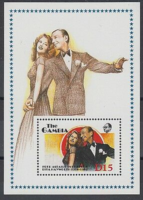 XG-AE078 GAMBIA IND - Cinema, 1988 Fred Astaire, Entertainers MNH Sheet