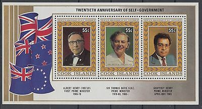 XG-AD969 COOK ISLANDS IND - Independence, 1985 Self Government Anniv. MNH Sheet