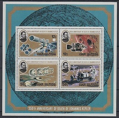 XG-AD952 COOK ISLANDS IND - Space, 1980 Kepler Anniversary MNH Sheet