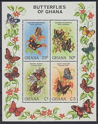 XG-AE168 GHANA - Butterflies, 1982 Flowers, Nature MNH Sheet