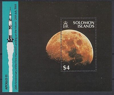 XG-AE853 SOLOMON ISLANDS IND - Space, 1989 Moonlanding 20Th Anniv. MNH Sheet