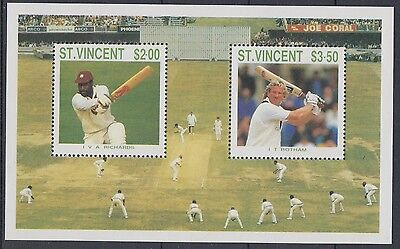 XG-AE452 ST VINCENT - Sports, 1988 Cricket Players, Not Issued MNH Sheet