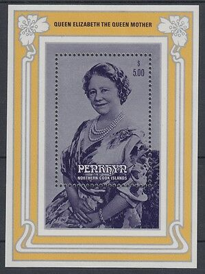 XG-AE328 PENRHYN IND - Royalty, 1985 Queen Mother 85Th Birthday MNH Sheet