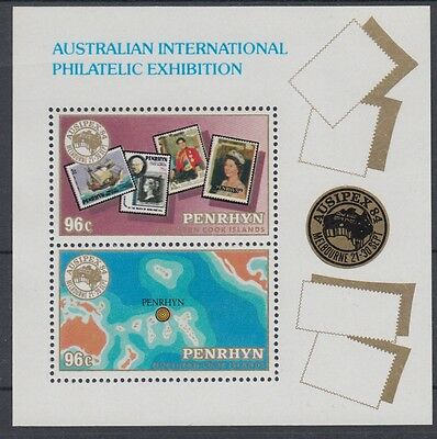 XG-AE323 PENRHYN IND - Stamp On Stamp, 1984 Ausipex '84 MNH Sheet