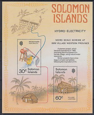 XG-AE845 SOLOMON ISLANDS IND - Industry, 1986 Electricity MNH Sheet