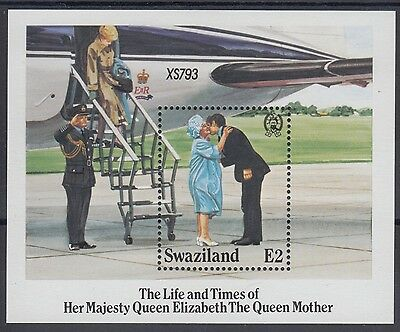 XG-AE862 SWAZILAND IND - Royalty, 1985 Queen Mother 85 Birthday MNH Sheet