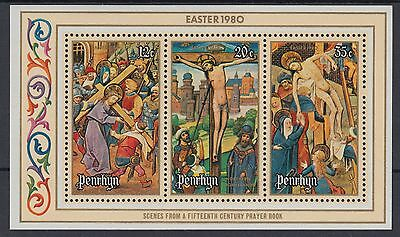XG-AE302 PENRHYN IND - Paintings, 1980 Easter, Miniatures MNH Sheet