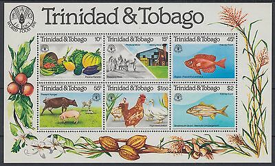 XG-AE642 TRINIDAD & TOBAGO IND - Fish, 1981 Farm Animals, Fao MNH Sheet