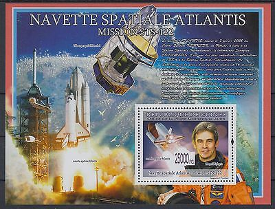 XG-AF099 GUINEA - Space, 2008 Atlantis Ship, 1 Value MNH Sheet