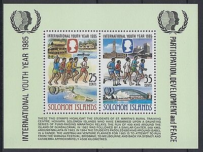 XG-AE843 SOLOMON ISLANDS IND - Intl. Youth Year, 1985 Sports MNH Sheet