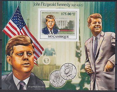 XG-AF127 MOZAMBIQUE IND - Kennedy, 2009 Anniversary, 1 Value Imperf. MNH Sheet