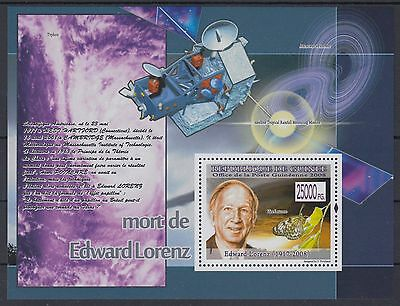 XG-AF079 GUINEA - Space, 2008 Nature, Edward Lorenz 1 Value MNH Sheet