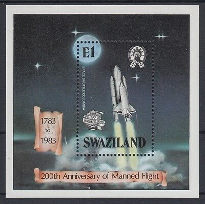 XG-AE858 SWAZILAND IND - Space, 1983 Manned Flight Bicent. MNH Sheet