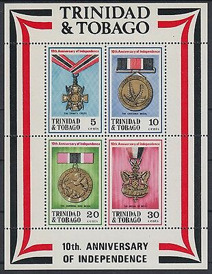XG-AE616 TRINIDAD & TOBAGO IND - Medals, 1972 Independence 10Th Ann. MNH Sheet