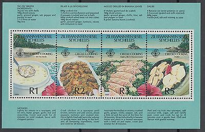 XG-AE517 SEYCHELLES IND - Food, 1989 Gastronomy, Creole Cooking MNH Sheet
