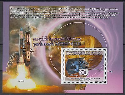 XG-AF071 GUINEA - Space, 2008 Messenger, Mercury, 1 Value MNH Sheet