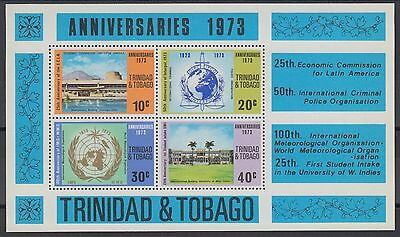 XG-AE618 TRINIDAD & TOBAGO IND - Anniversaries & Events, 1973 4 Values MNH Sheet