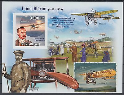 XG-AF051 GUINEA-BISSAU - Aviation, 2009 Louis Bleriot 1 Value Imperf. MNH Sheet