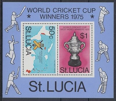 XG-AE531 ST LUCIA IND - Cricket, 1976 World Cup Winners, Sports MNH Sheet