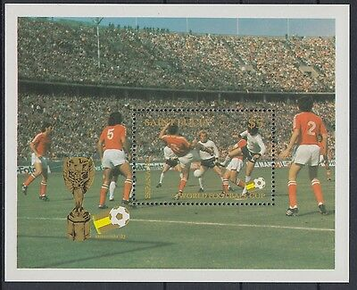 XG-AE551 ST LUCIA IND - Football, 1982 Spain '82 World Cup MNH Sheet