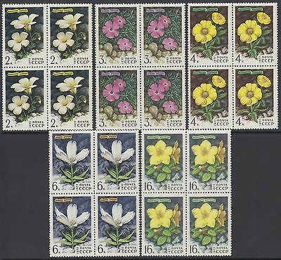 XG-AF712 RUSSIA - Flowers, 1977 Flora Of The Mountains, Block Of 4 MNH Set