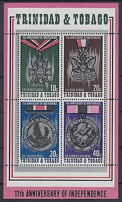 XG-AE619 TRINIDAD & TOBAGO IND - Medals, 1973 Independence 11Th Ann. MNH Sheet