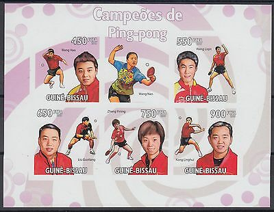 XG-AF052 GUINEA-BISSAU - Ping-Pong, 2009 Sports, 5 Values Imperf. MNH Sheet