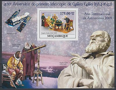 XG-AF201 MOZAMBIQUE IND - Space, 2009 Galileo, Astronomy, Imperf. MNH Sheet