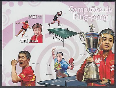 XG-AF053 GUINEA-BISSAU - Ping-Pong, 2009 Sports, 1 Value Imperf. MNH Sheet