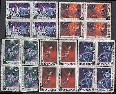 XG-AF627 RUSSIA - Space, 1967 Science-Fiction, Block Of 4 MNH Set