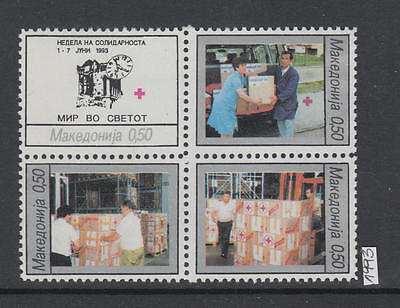 XG-AI656 MACEDONIA - Red Cross, 1993 Solidarity Week, Block Of 4 MNH Set