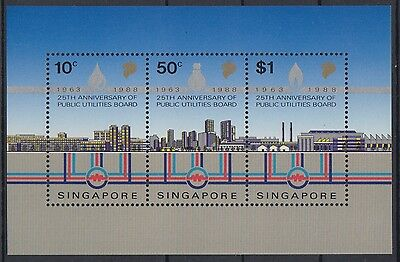 XG-AE711 SINGAPORE IND - Industry, 1988 Public Utlities 25Th Anniv. MNH Sheet